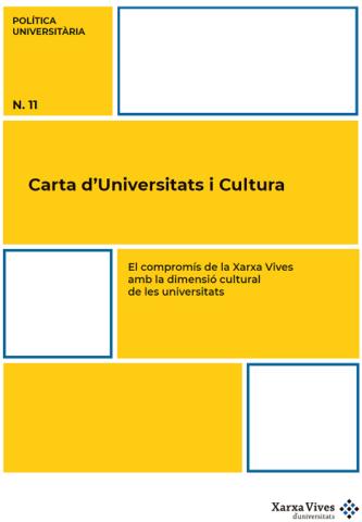 Carta Universitats Cultura - Política Universitària
